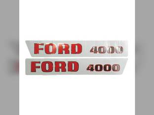 Hood Decal Set - 4000 1965 to 1968 Ford 4000