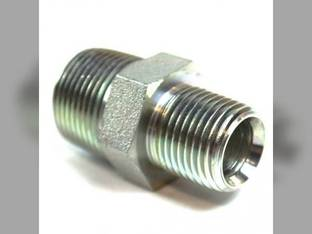 "Hydraulic Male Hex Nipple 3/4"" Male NPT 1/2"" Male NPT"