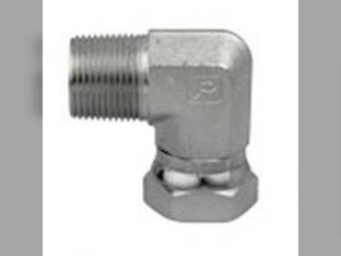 "Hydraulic Adapter Union 90° 3/8"" Male 1/2"" Female Swivel"