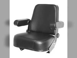 Seat Assembly Hydraulic Black Vinyl International 786 1480 1460 1086 3588 3688 986 5288 5088 3388 886 6388 3488 1586 5488 3288 Hydro 186 6788 1440 3088 1486 6588 3788 Case Massey Ferguson 285 Case IH