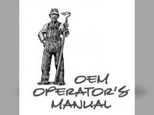 Operator's Manual - M8580 Kubota M8580