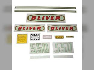 Tractor Decal Set 550 Early Diesel Mylar Oliver 550