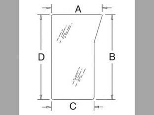 Cab Glass - Windshield Lower RH Kubota M5040 M6040 M7040 M8540 M9540 3C581-70520
