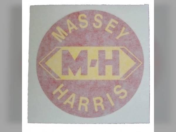 SET OF 2 MASSEY-HARRIS TRACTOR VINYL DECALS RED