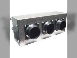 "Auxiliary Heater 16"" x 6-1/2"" x 9"" 3 Ducts 30 000 BTU 24V"