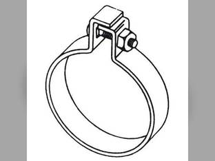 "Muffler Clamp - 3-1/2"" One Bolt Style"
