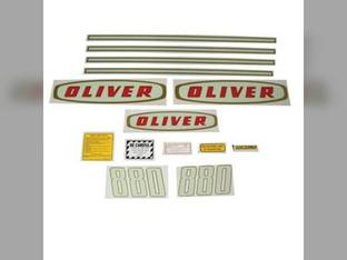Tractor Decal Set 880 Early Mylar Oliver 880