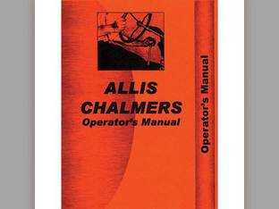 Operator's Manual - 60 Allis Chalmers 60 60