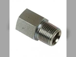 """Hydraulic Adapter Solid Straight 7/8"""" Female ORB to 1/2"""" Male NPT 2H118M-140RF 43A19"""