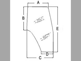Cab Glass - Door LH New Holland TS115 TM135 TM155 TL90 TM120 TM125 TS90 TM150 TM140 TM115 TM190 TM130 TL70 TL80 TS110 TM175 TM165 TL100 TS100 Case IH MXM120 JX1090U MXM155 MXM175 MXM190 MXM140 MXM130