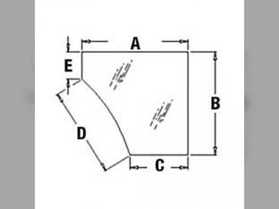 Cab Glass - Door Lower LH John Deere 710 710G 310SG 315 315SG 310G 310 410 410G T165336