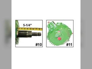 Used Feeder House Reverser Gear Box Assembly John Deere 9770 9670 HEADER.