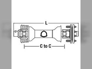 Universal PTO Driveline Rotary Tiller ECC4383S