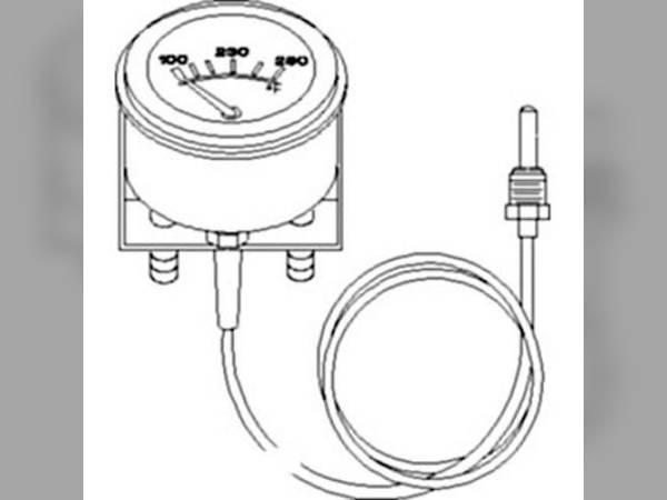transmission gauge compatible with john deere 750b 755a 850b 655b 644b 855  444 646b 655 544b
