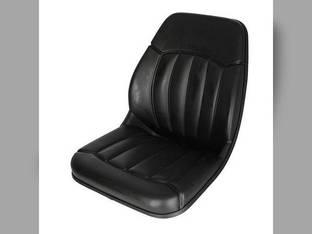 Bucket Seat Vinyl Black Case 430 580B 420 580 Super L 1840 440 580L 580 450 Bobcat S160 753 863 S175 S150 763 S185 773 Ford 550 655 555 Mustang Gehl Daewoo New Holland Massey Ferguson Caterpillar JCB