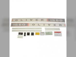 Tractor Decal Set 1550 Diesel Vinyl Oliver 1550