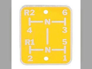 Shift Pattern Plate Oliver Super 88 Super 66 77 66 88 Super 77 1KA908A