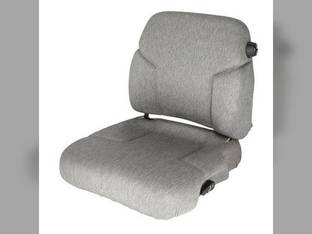 Seat and Backrest w/Lumbar Fabric Gray Case IH 8910 2388 7130 2344 7250 CPX610 7140 7230 7120 2366 7110 9380 8940 2188 7240 7220 8950 9330 2144 7150 8920 2166 9390 9350 2155 9310 2555 8930 9370 7210
