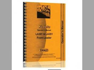 Operator's Manual - LA301 LA351 Front Loader Kubota B2400 B2400 B2400 B2400 LA301 LA351 B2100 B2100 B1700 B1700