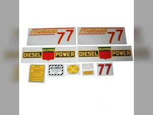 Tractor Decal Set 77 Standard Diesel Red Mylar Oliver 77