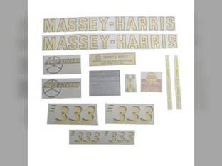 Tractor Decal Set 333 Vinyl Massey Harris 333