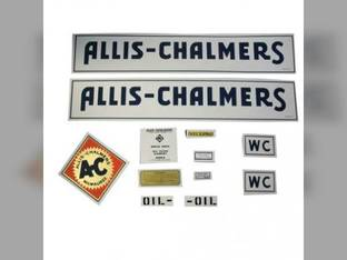 Decal Set WC 1933-38 w/Border Mylar Allis Chalmers WC