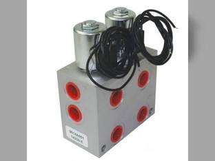 Hydraulic Solenoid Double Selector Valve 2 Spool 3000 PSI