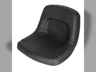 Seat High Back Steel Pan Black Talon Black Vinyl