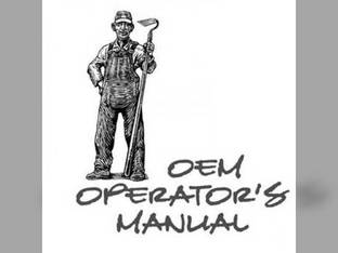 Operator's Manual - M4900 M5700 M6800S M8200 M9000 Kubota M8200 M6800 M6800 M5700 M9000 M4900
