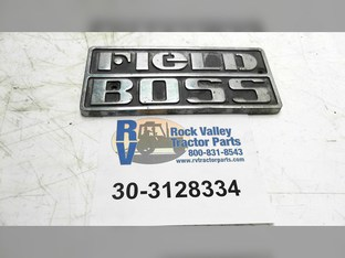 Name Plate-field Boss