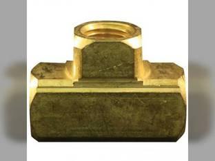 "Milton Air Tool Fitting - Brass Tee Hose Female 1/4"" FNPT"