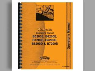 Operator's Manual - B5200D B5200E B6200D B6200E B7200D B7200E Kubota B6200 B6200 B6200 B5200 B5200 B5200 B7200 B7200 B7200