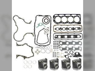 "Engine Rebuild Kit - Less Bearings - .040"" Oversize Pistons 304T Genesis Turbo Diesel Ford 7740 304T New Holland 7610S 7010"