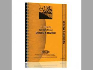 Operator's Manual - B9200HST-D B9200HST-E Kubota B9200 B9200 B9200