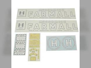 Vinyl Decal Set Farmall & H International H