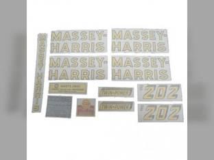 Tractor Decal Set 202 Standard Vinyl Massey Harris 202