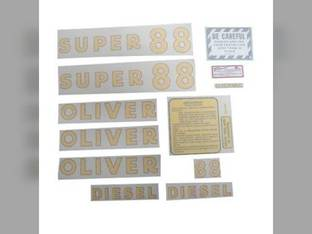 Tractor Decal Set Super 88 Diesel Vinyl Oliver Super 88