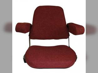 Seat Assembly Mechanical Fabric Red International 1460 1086 3588 786 1480 6388 3488 1586 5488 3688 986 5288 6588 3788 5088 3388 886 3288 Hydro 186 6788 1440 3088 1486 Case Massey Ferguson 285 Case IH