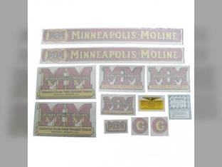 Tractor Decal Set G Vinyl Minneapolis Moline G