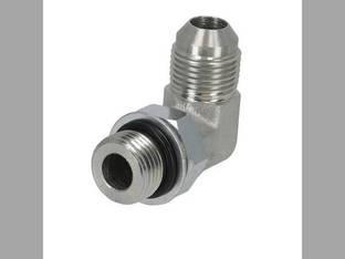 """Hydraulic Adapter 90° Angle 1/2"""" Male JIC 37° 1/2"""" Male O-Ring Fitting"""