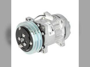 Air Conditioning Compressor - w/Clutch Sanden Ford 7810 8730 TW35 6610 8830 FW20 TW15 7910 6410 7410 5610 8210 8530 7710 6810 TW25 6710 8630 7610 TW5 5110 Hagie 284 254 657352 SFD021795 E8NN19D629AA
