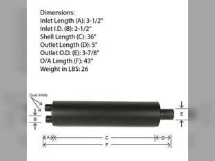 Muffler Versatile 145 118 606T123A