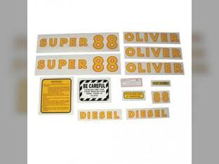 Tractor Decal Set Super 88 Diesel Mylar Oliver Super 88