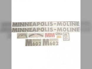"Tractor Decal Set M602 46"" Hood Decal Vinyl Minneapolis Moline M602"