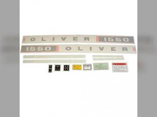 Tractor Decal Set 1550 Vinyl Oliver 1550