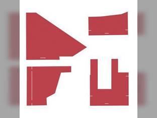 Cab Foam Kit with Headliner Red Material s/n 272595-272916 White 2-155 2-135