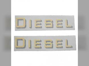 Tractor Decal Set 'Diesel' Yellow Vinyl Massey Harris 55 Mustang 20 50 102 82 44 30 444 201 202 81 Pacemaker 33 Challenger 101 203 Colt 744 Pony 333 745 22 555