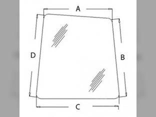 Cab Glass - Front Window RH John Deere 330LCR 120 450LC 750 230LCR 270LC 330LC 370 110 160LC 200LC 550LC 230LC 80 AT214163 Hitachi EX750LC-5 EX160-5 EX110-5