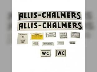 Decal Set WC 1941-48 Mylar Allis Chalmers WC