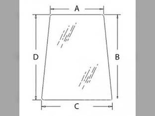 Cab Glass - Door Upper New Holland LB75 LB110 LB115 LB75CP LB90 LB115B LB90B LB110B LB75B 85801626 Ford 575E 555E 655E 675E